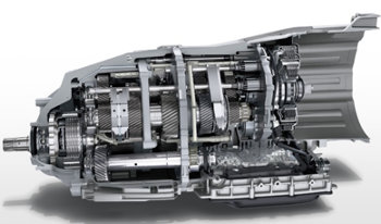 cutaway image of Porsche Panamera 8-speed PDK