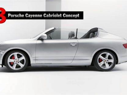Did You Know Porsche Built a Cayenne Cabriolet as a Concept?