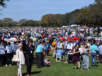 the masses of people crowding the concours on Amelia Island in 2017