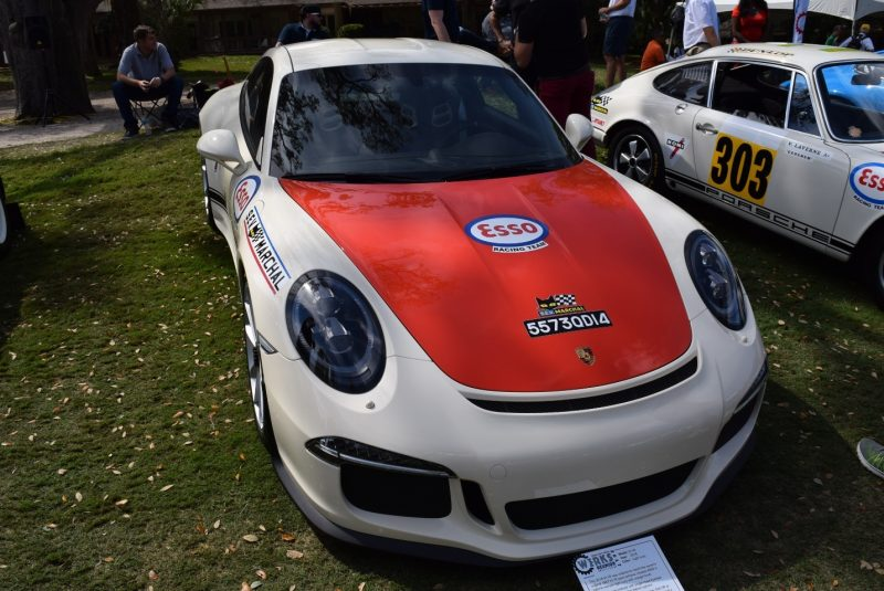 a 2016 Porsche 911 R from the Ingram Collection on Display at the PCA Werkes Reunion on Amelia Island