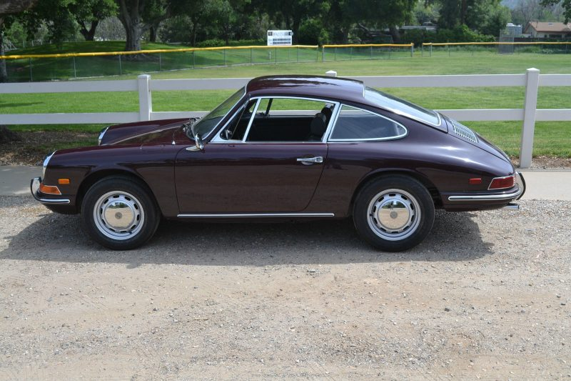 Burgandy Porsche 1968 912 for sale