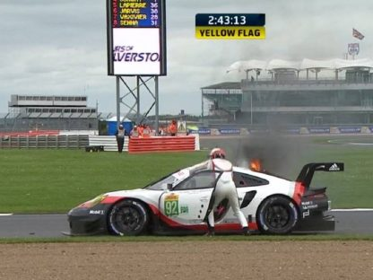 Porsche's Mid-Engine 911 RSR Catches Fire During Silverstone Race