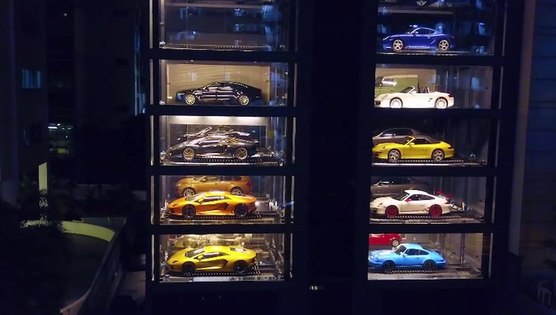 Porsche vending machine in Singapore