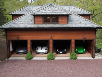 Where To Store Your Porsche Collection: This Ultimate Home Garage is for Sale!