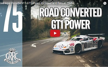 Driving to Goodwood in a Road Legal 911 GT1