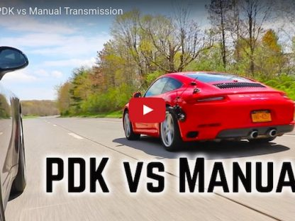 Porsche PDK vs manual transmission