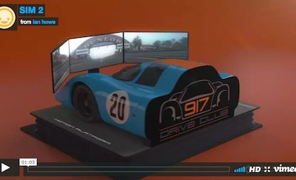 video showing a Porsche 917 as a simulator called Project 917