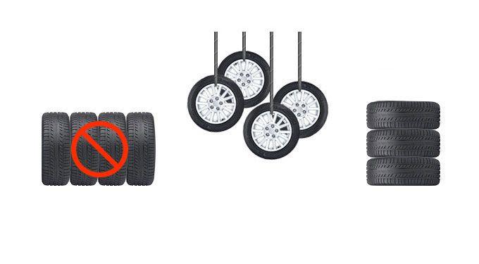Tire Storage With Wheel