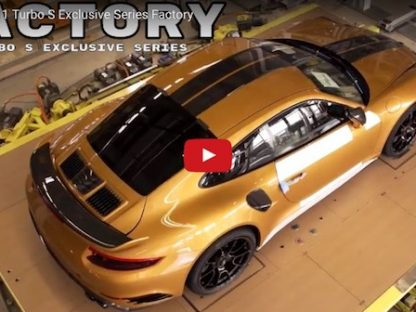 Take A Look at the Manufacturing of the 911 Turbo S Exclusive Series
