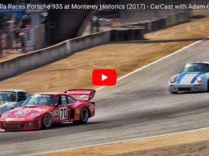 watch adam carolla pilot his porsche 935 at the rolex monterey historics