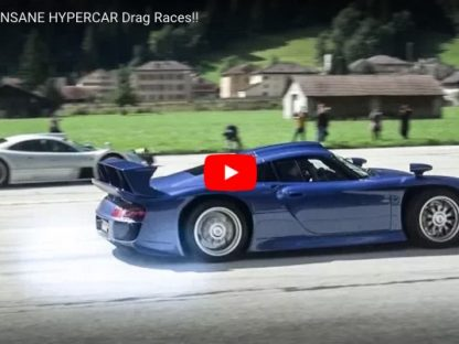 Porsche 959, GT1, Carrera GT, 918 and other Hypercars Drag Race in Stunning Swiss Surroundings