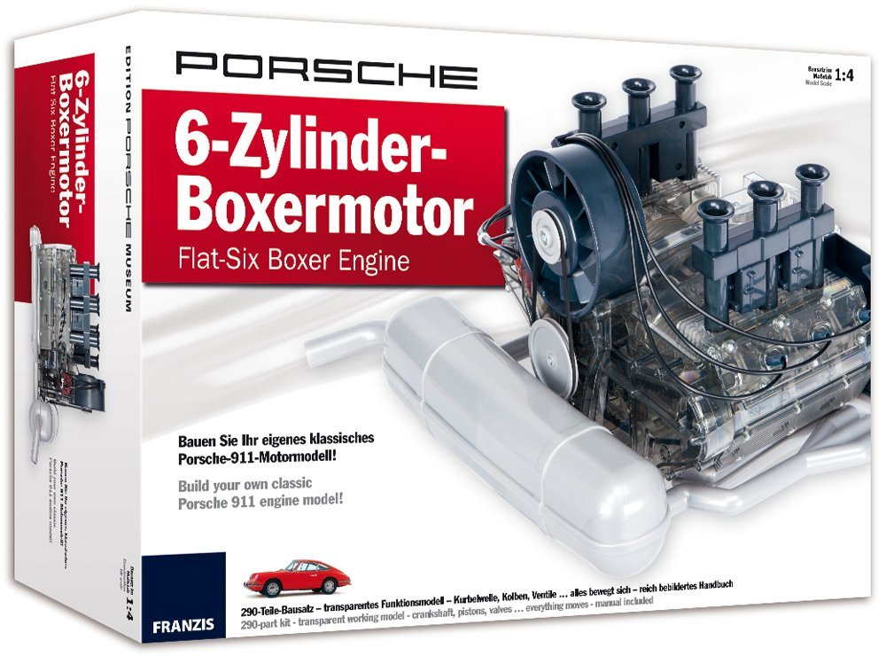 working scale model porsche boxer engine