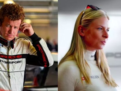 Patrick Long and Christina Nielson racing together in Pirelli World Challenge