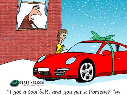 Porsche Christmas Cartoon