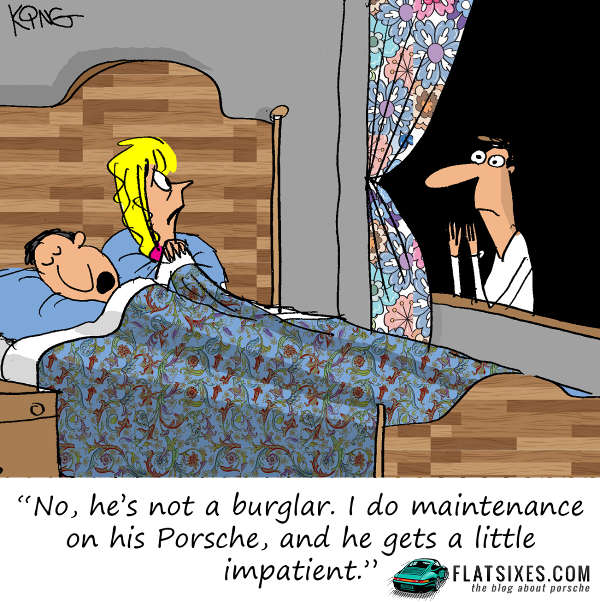 Porsche comic strip