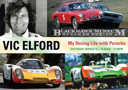 Vic Elford to Speak at the Blackhawk Museum in March