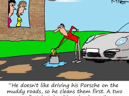 Porsche Cartoon