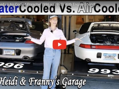 Franny explains the difference between a Porsche 993 engine and 996 engine
