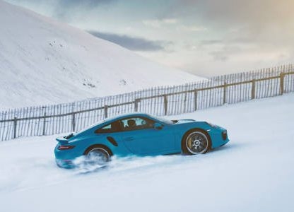 Climbing a Ski Slope in a 911 Turbo S