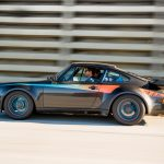 A rolling and panning photograph of the 930 in profile