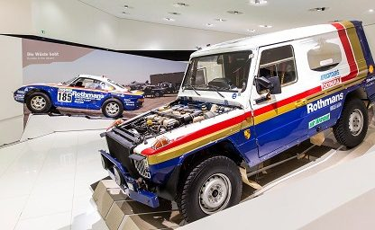 Mercedes Benz G Wagon with Porsche 928 v8 Engine installed wearing Rothmans livery