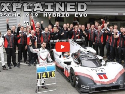 video explaining the technology of Porsche's 919 Evo