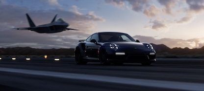 Rear Wheel Steer vs. Thrust Vectoring: Turbo S Meets F-22 Raptor