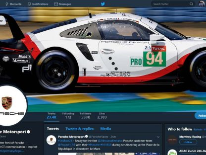 The 2018 24 Hours of Le Mans On Twitter For Porsche Fans