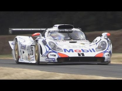 Porsche 911 GT1-98 Screams and Whistles at Goodwood
