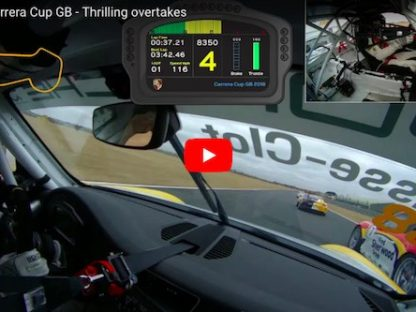 Watch This Driver Make 13 Passes in One Lap of Carrera Cup GB
