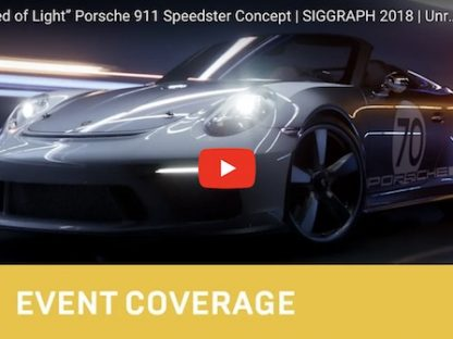 speedster created via collaboration between unreal engine and Porsche