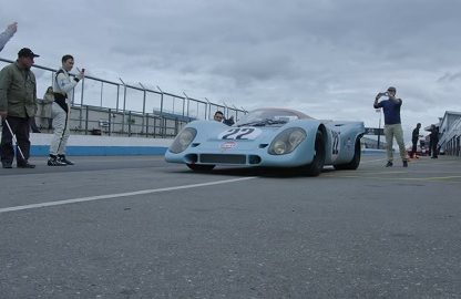 Indy 500 Champ Dario Franchitti Tests Gulf Porsche 917 Against Contemporary Rivals, Ferrari 512S and Lola T70