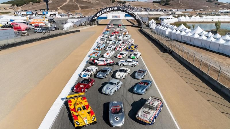 family photo from Porsche's Rennsport Reunion VI