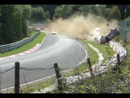 Watch this GT3 Cup Flip 10 Times at the Nürburgring