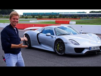 Nico Rosberg Slides a 918 Around Silverstone