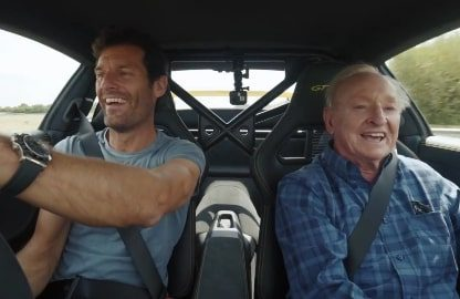 Mark Webber Shows a Tennis Legend the Quick Way Around Silverstone in a GT3 RS