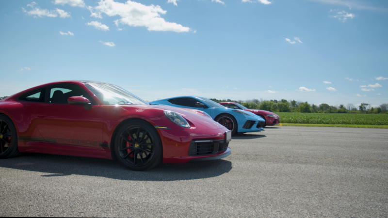 photo of How Does A Porsche 911 Carrera S Hold Up In A Drag Race Against A Chevy Corvette and a Toyota Supra? image